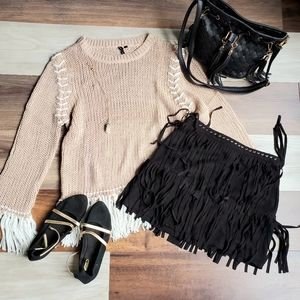 Poof! Knit sweater.